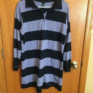 Purple & black striped T-shirt dress
